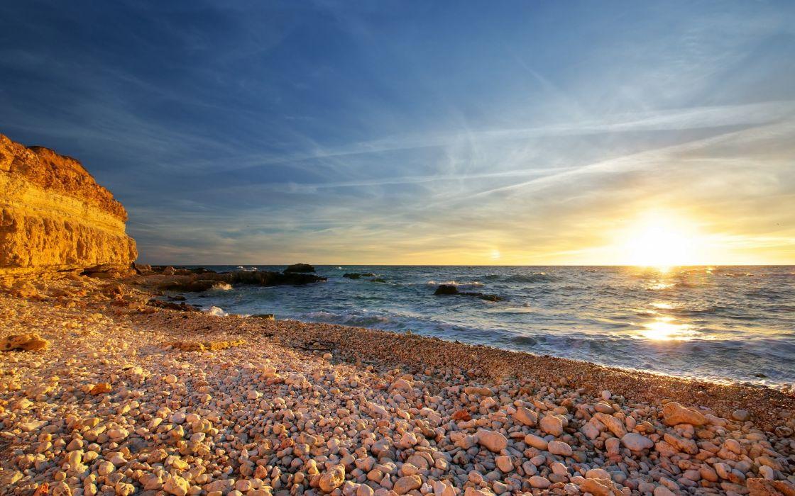 Landscapes nature beach shore wallpaper