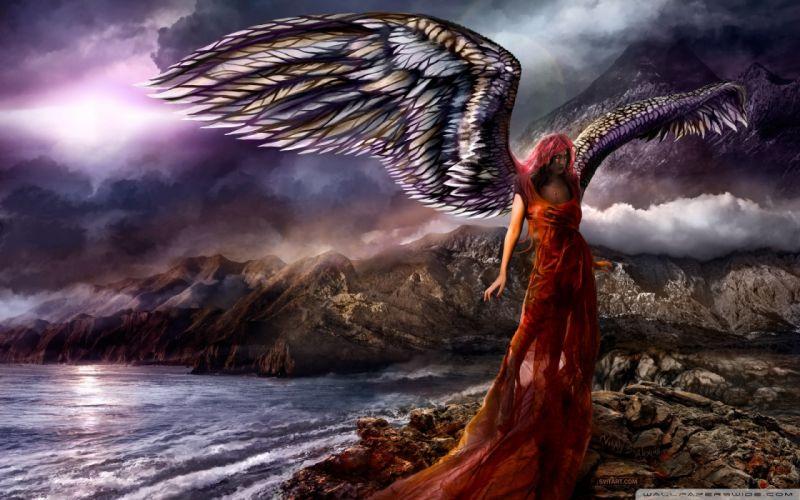 Succubus fantasy art shards angel wallpaper