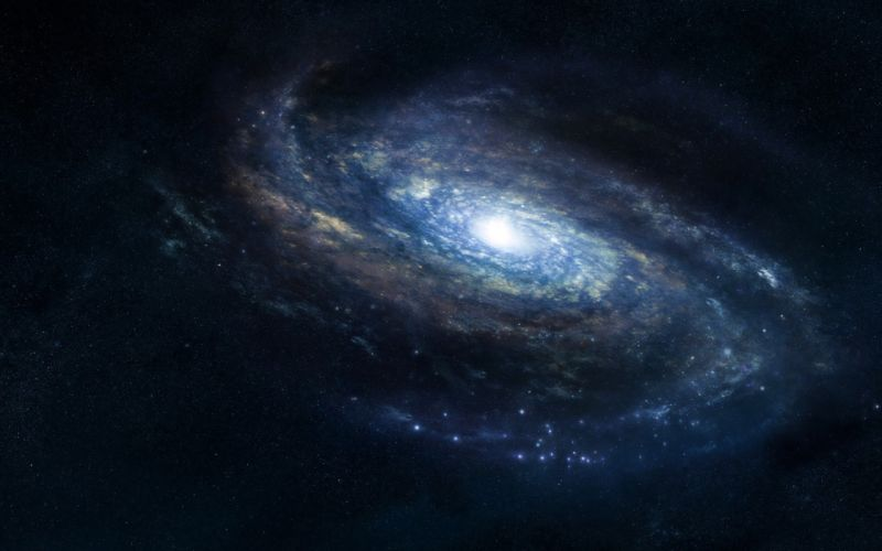 Outer space stars galaxies wallpaper
