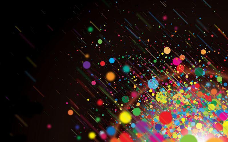 Abstract dark multicolor bright wallpaper