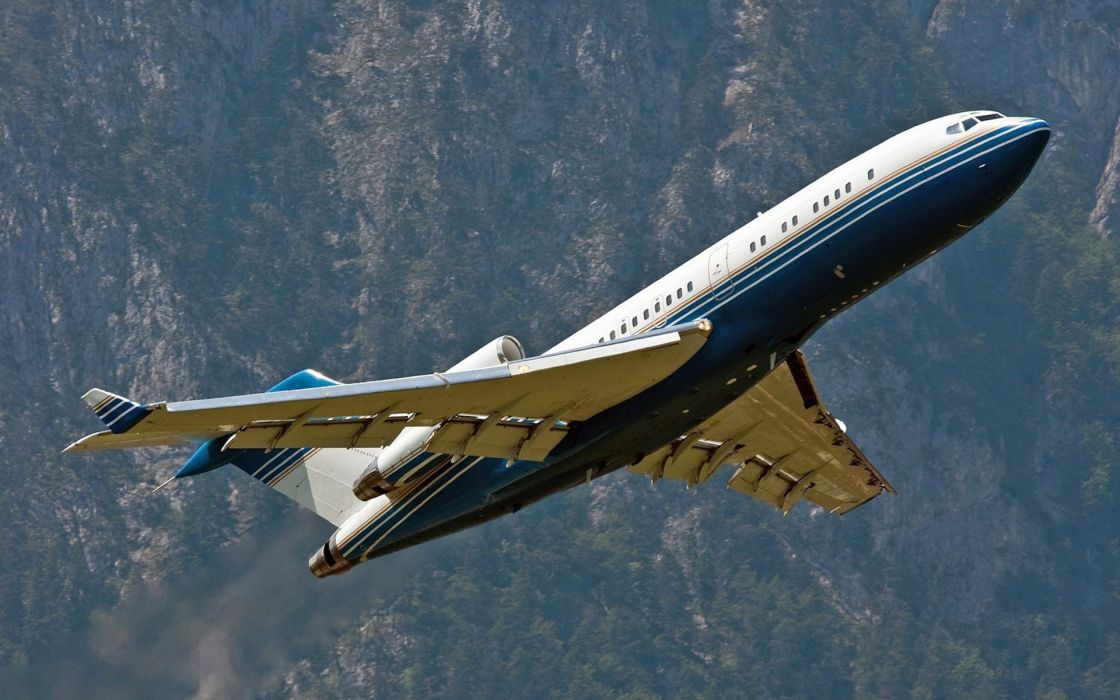 Mountains aircraft boeing 727 wallpaper