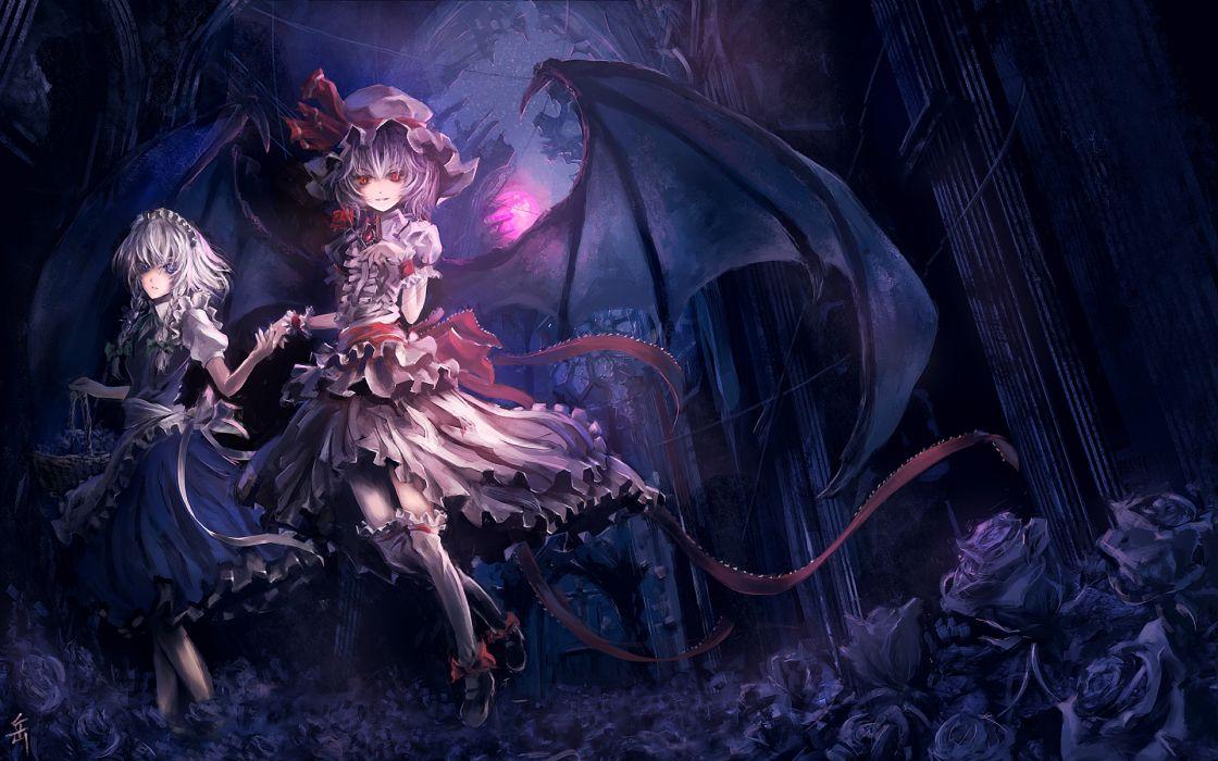 Touhou maids izayoi sakuya vampires remilia scarlet wallpaper