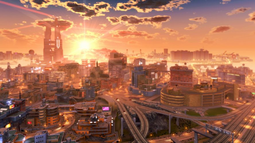Future cities wallpaper