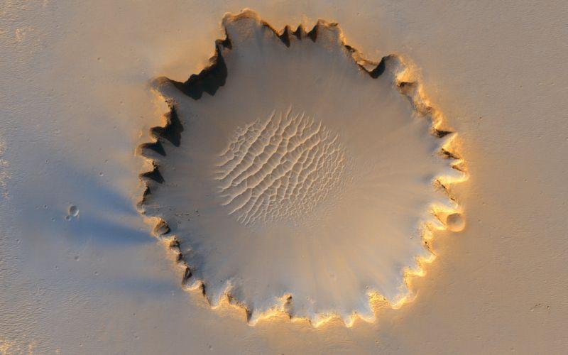 Mars victoria crater wallpaper