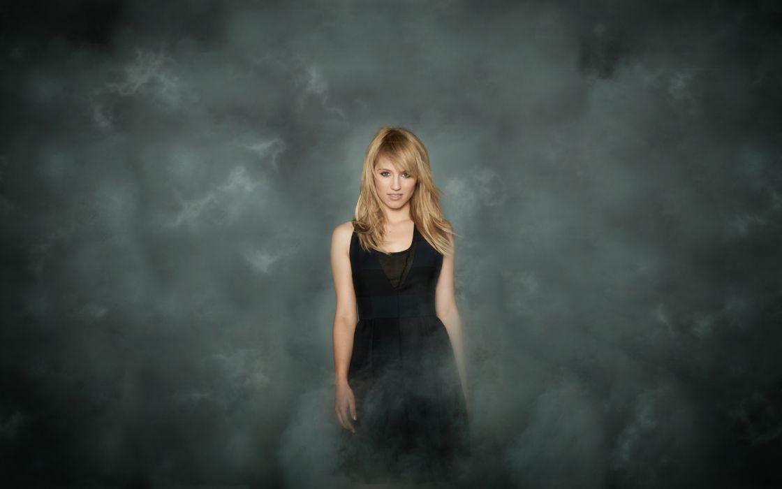 Blondes women black dress wallpaper