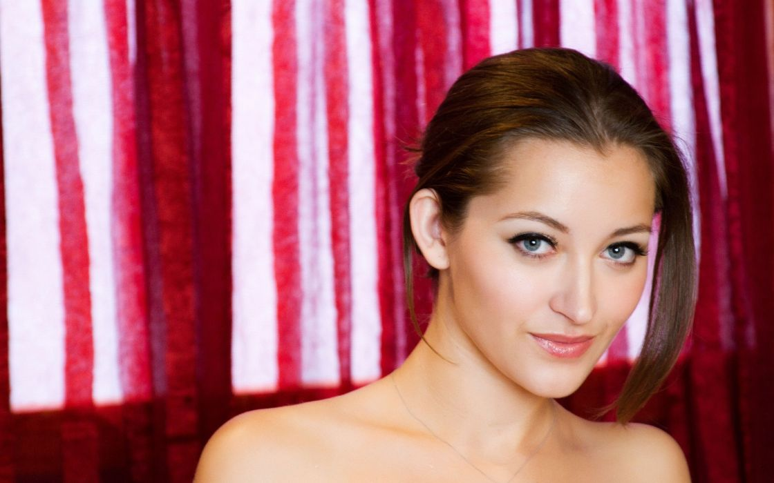 Brunettes women eyes blue eyes dani daniels faces wallpaper