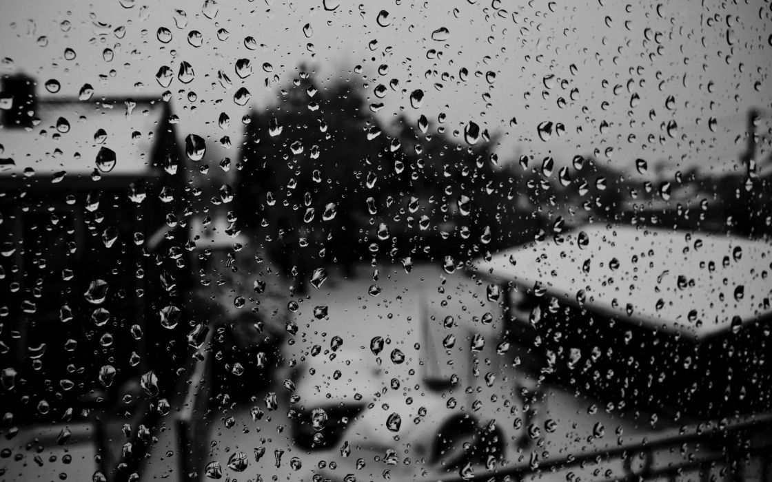 Black and white water drops condensation wallpaper