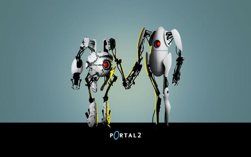 Robots portal 2 wallpaper