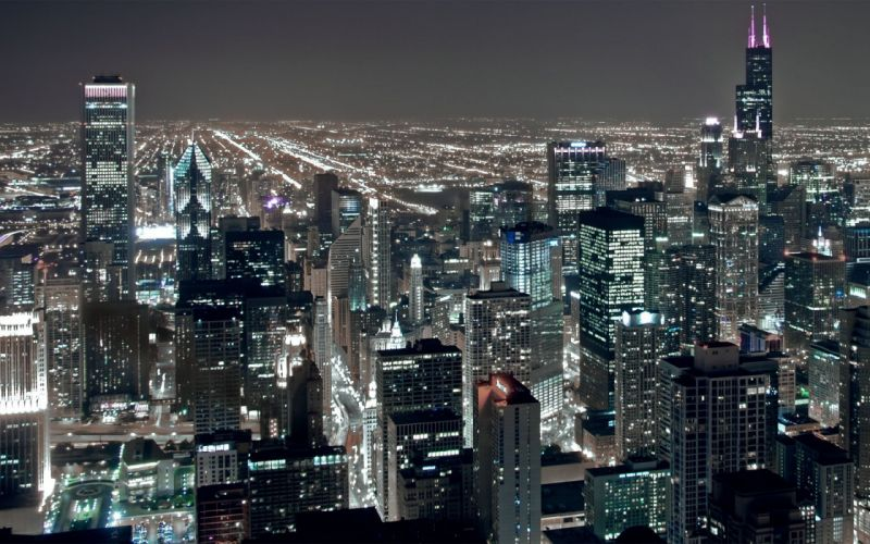 Cityscapes night buildings wallpaper