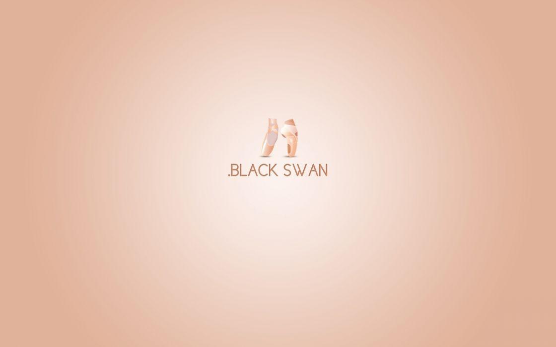 Minimalistic movies black swan wallpaper