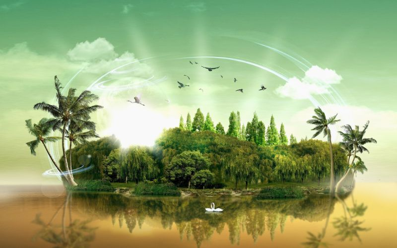 Fantasy islands wallpaper