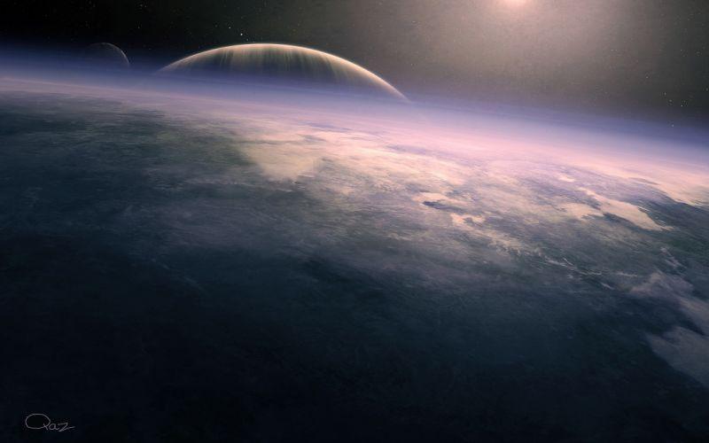 Outer space stars planets deviantart wallpaper