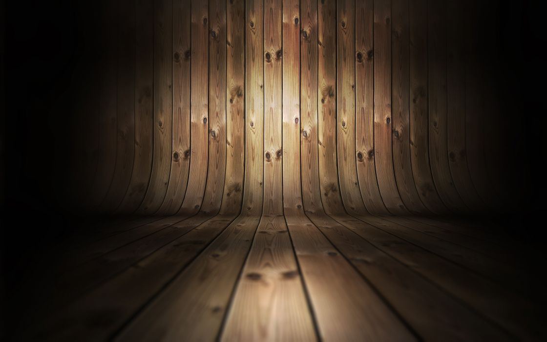 Wood curved wallpaper
