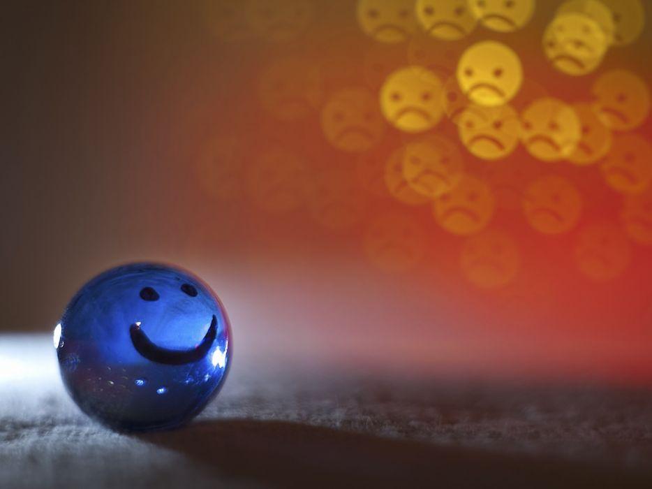 Balls smiling frown wallpaper