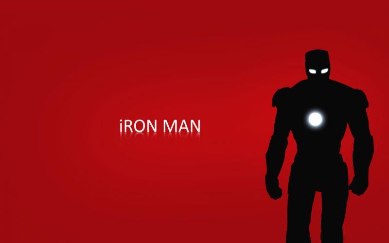 Iron man red silhouette marvel comics wallpaper