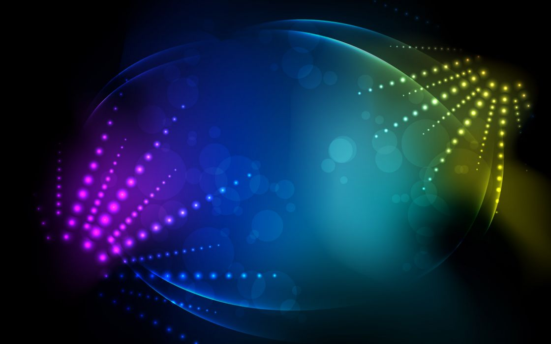 Abstract lights rainbows bokeh wallpaper