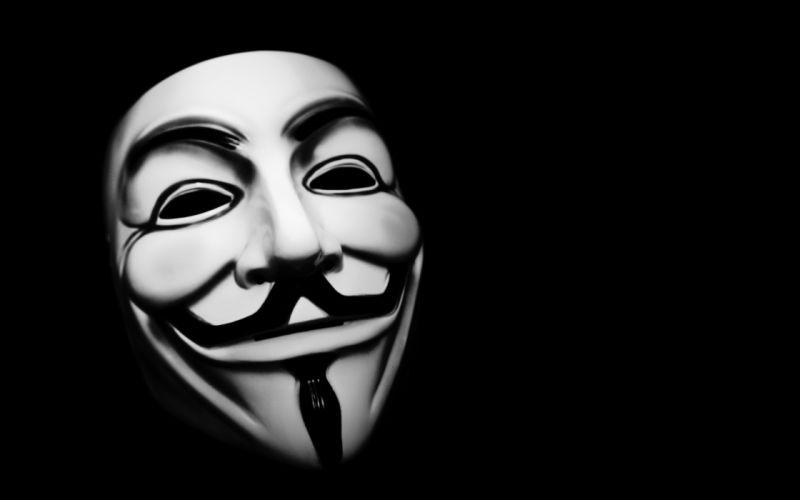 Anonymous masks hackers v for vendetta black background wallpaper