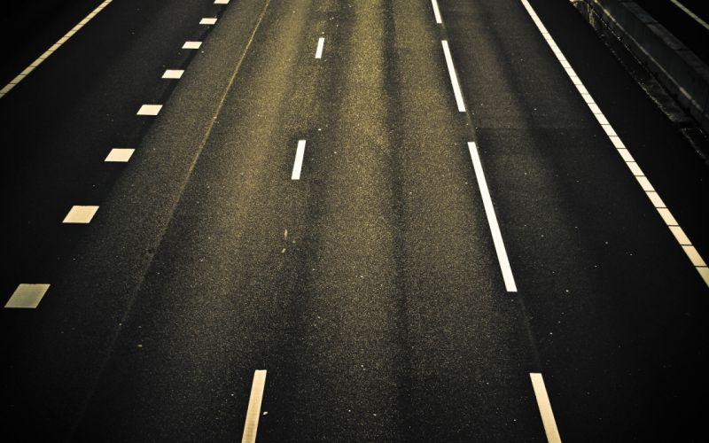 Night roads wallpaper