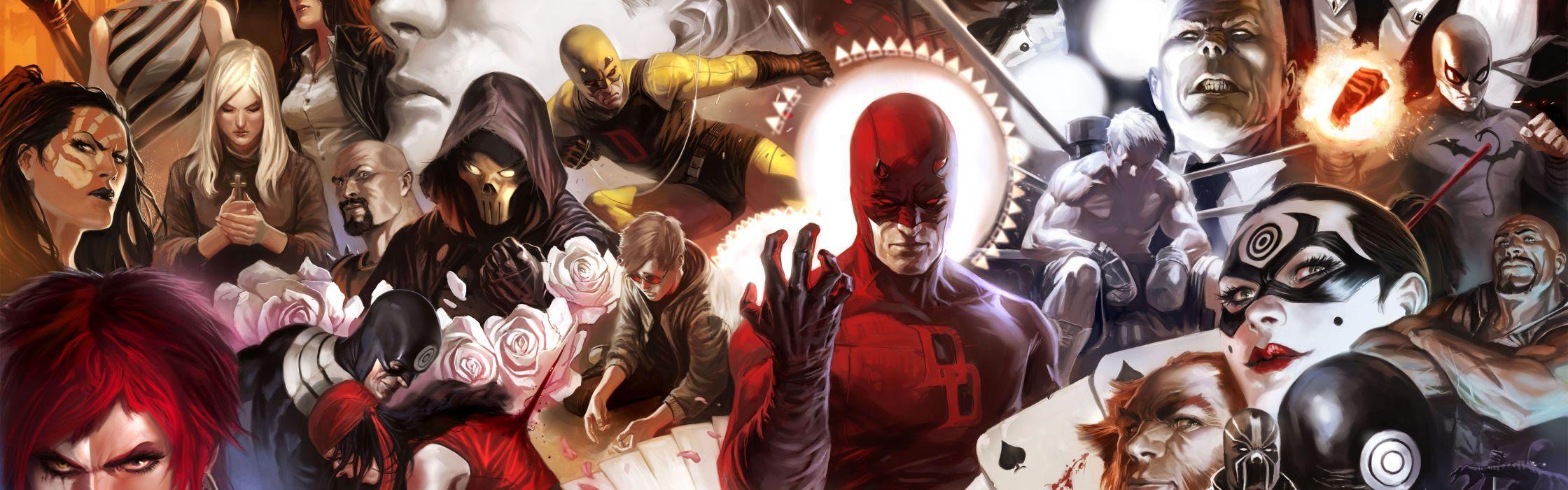 Daredevil marvel comics bullseye typhoid mary wallpaper