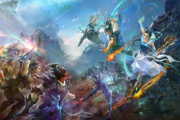 Weapons fantasy art armor battles jade dynasty artwork wallpaper
