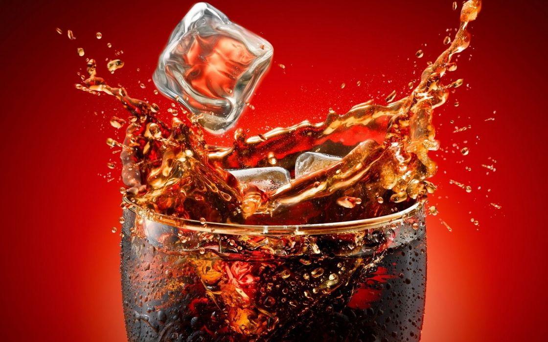 Macro drinks ice cubes wallpaper