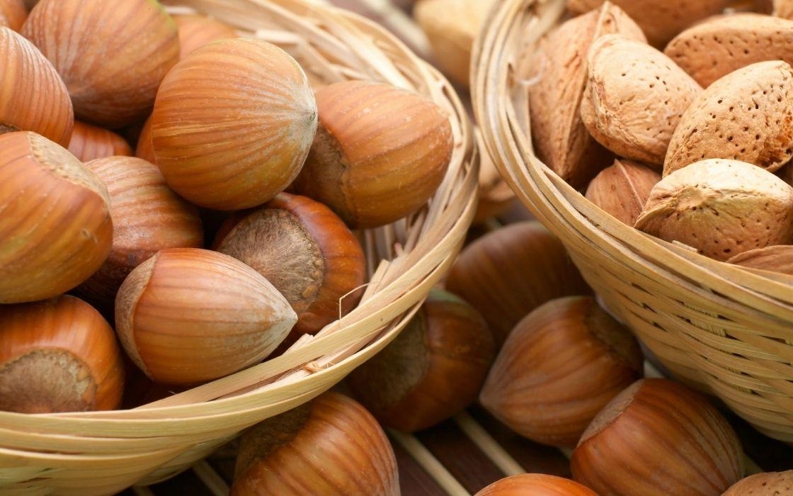 Food nuts macro hazelnuts wallpaper