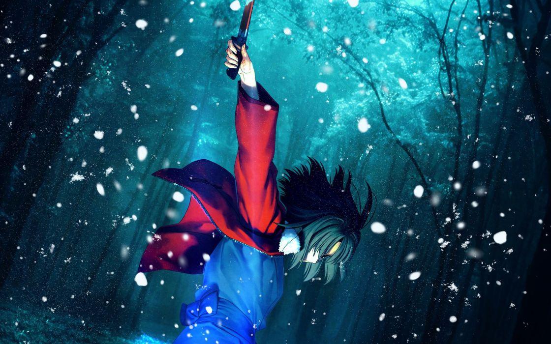Winter (season) kara no kyoukai anime melty blood wallpaper