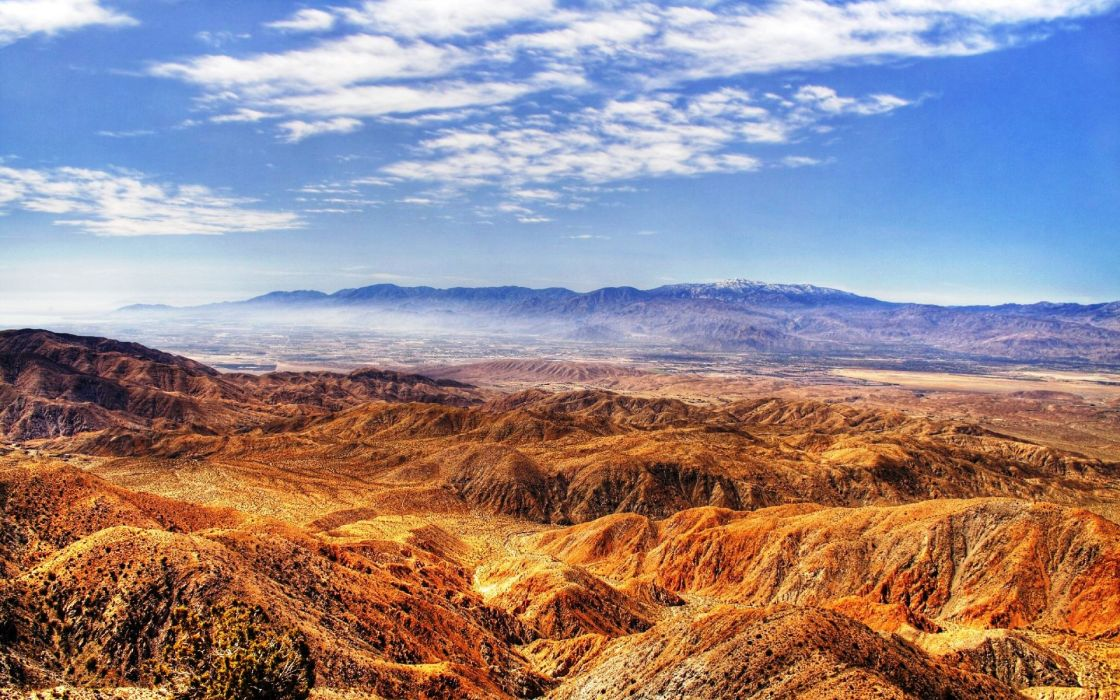 Mountains sand desert hdr photography wallpaper