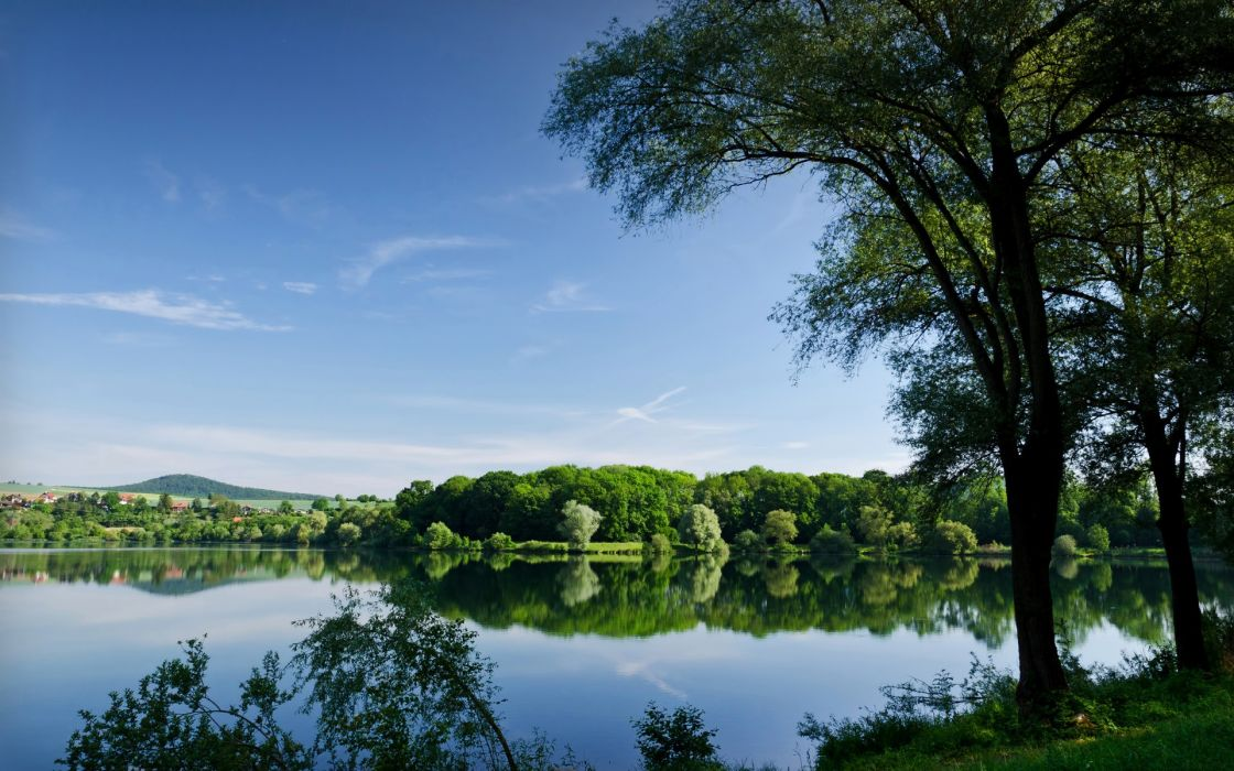 Nature trees forest lakes wallpaper