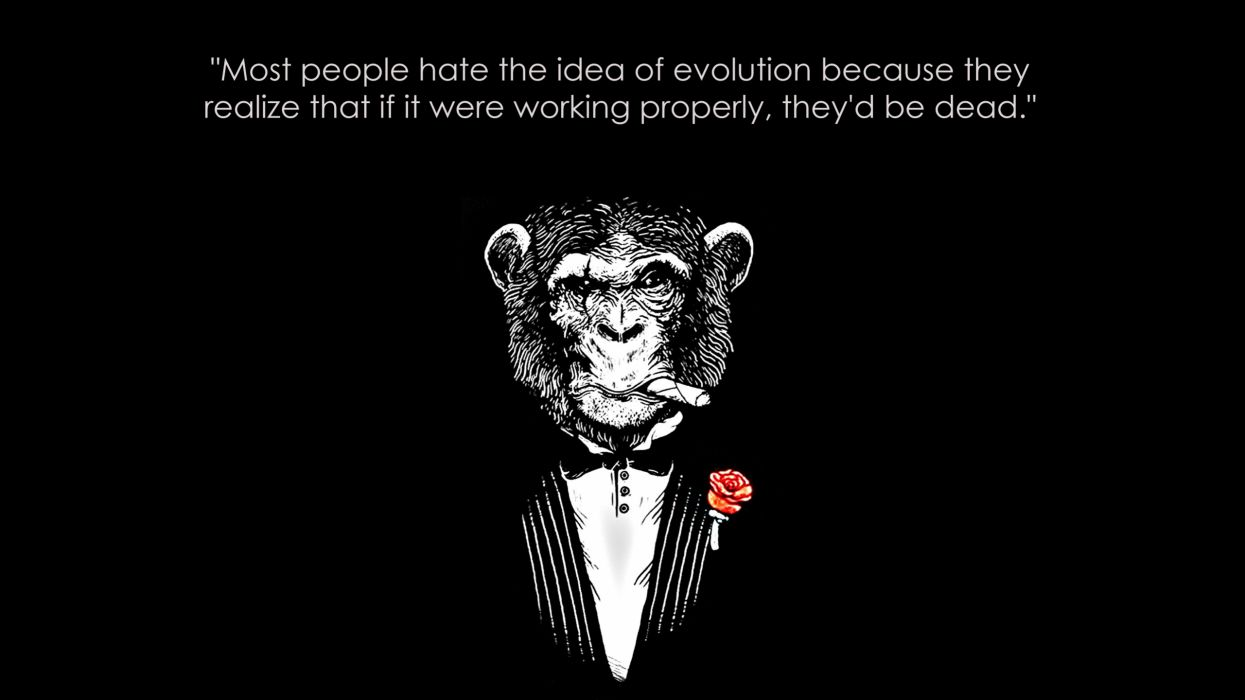 Black and white quotes monkeys black background wallpaper