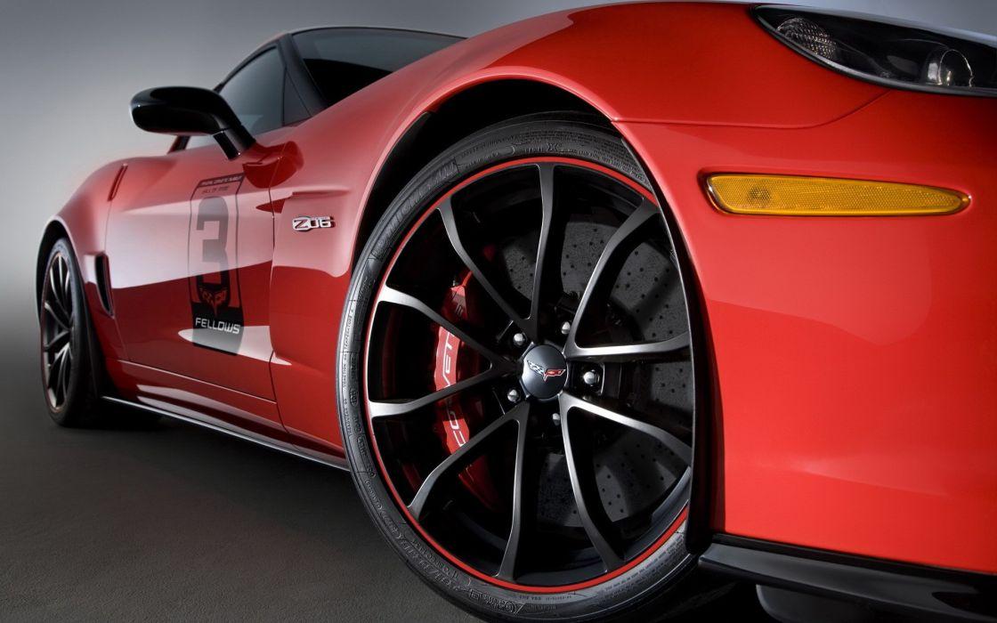 Red cars vehicles wheels corvette wallpaper