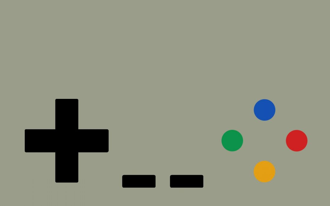 Minimalistic gamepad super nintendo wallpaper