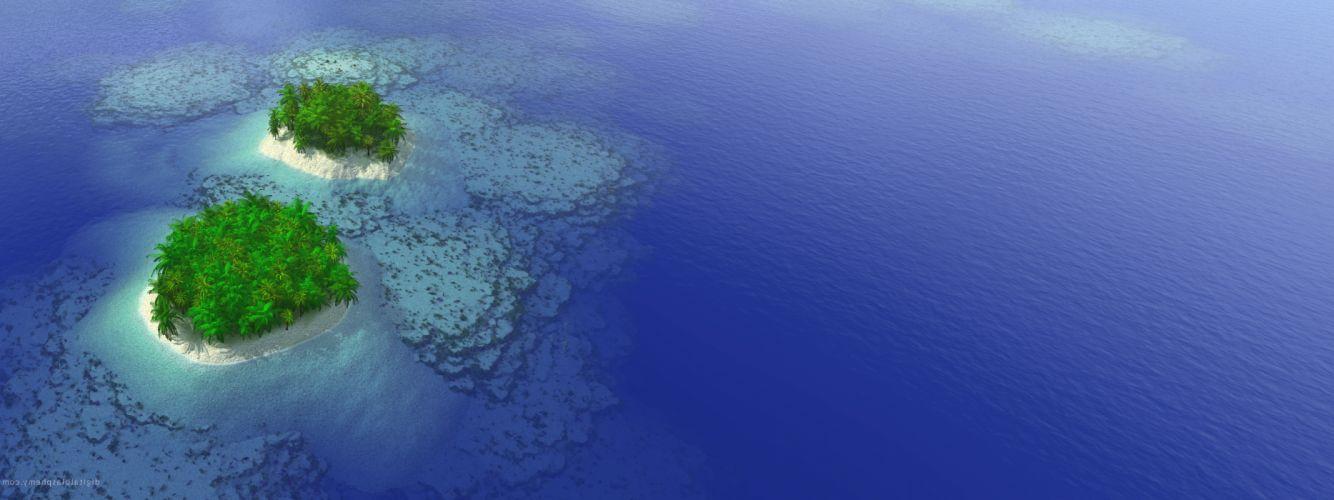 Ocean islands wallpaper