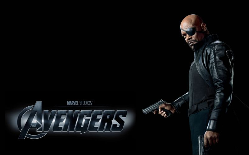 Samuel l_ jackson nick fury the avengers (movie) black background s_h_i_e_l_d wallpaper