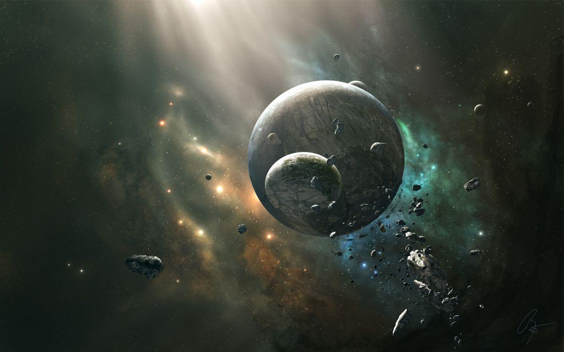 Outer space planets joejesus josef barton wallpaper