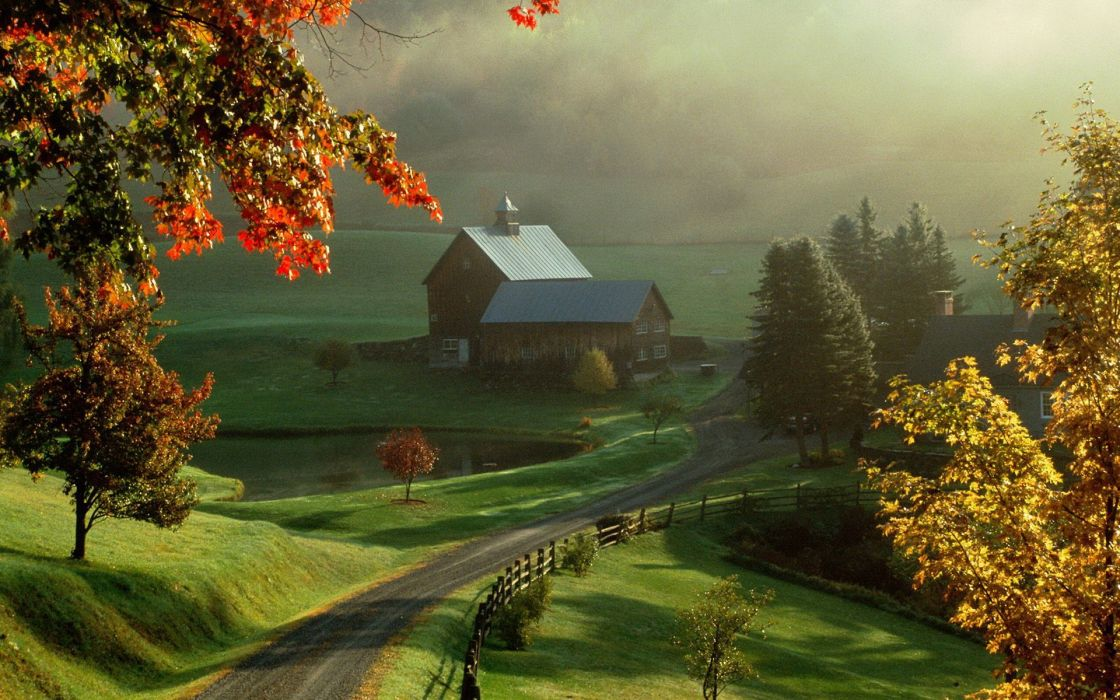 Landscapes nature farms wallpaper