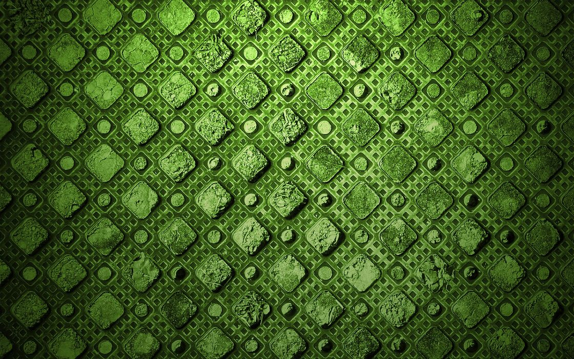 Green abstract textures diamonds wallpaper
