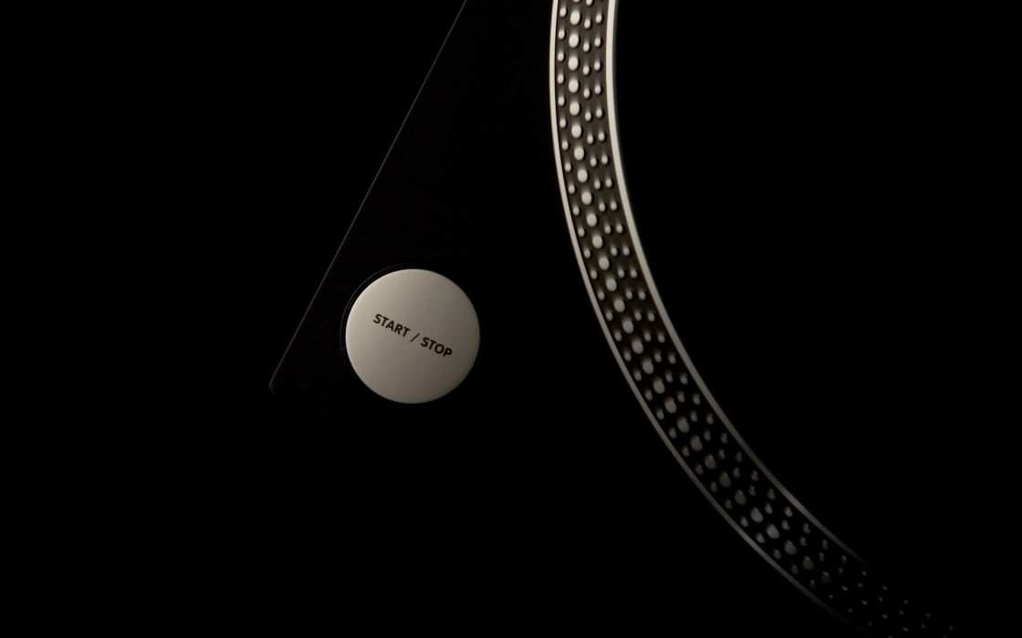 Black music artistic studio vinyl techno turntables technics dj  wallpaper