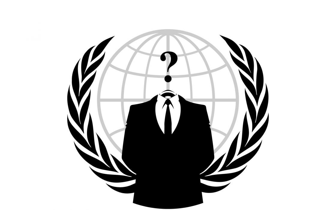 Anonymous suit question marks wallpaper