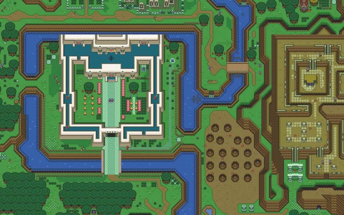 The legend of zelda maps pixelart wallpaper