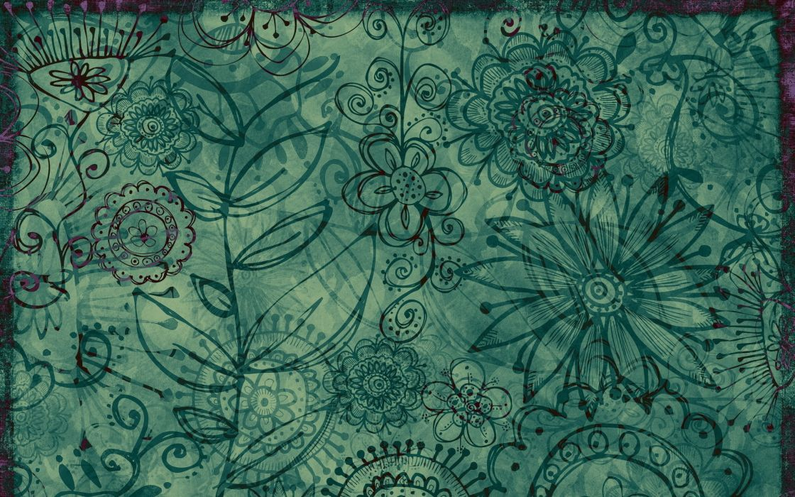 Patterns floral wallpaper