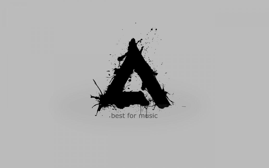 Abstract music logos aimp wallpaper