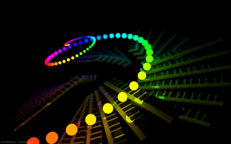 Abstract spectrum wallpaper