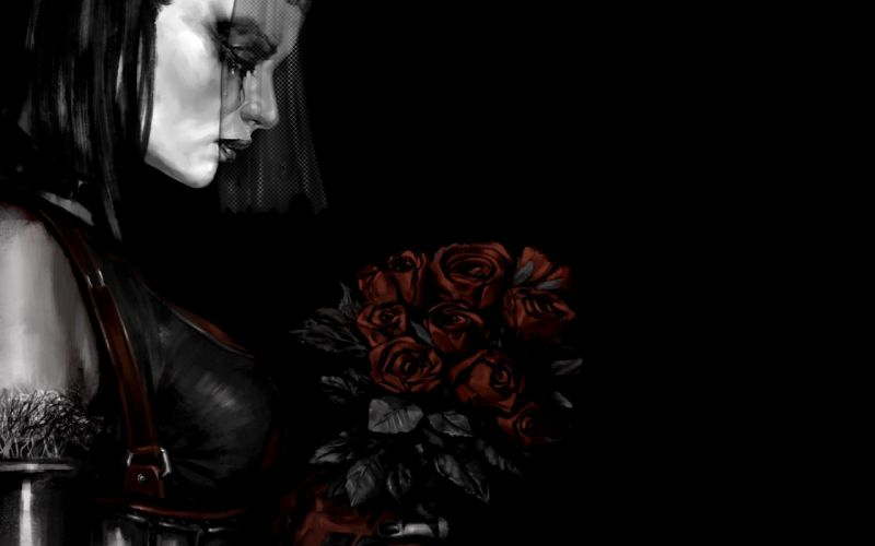 Noir gothic fantasy art wallpaper