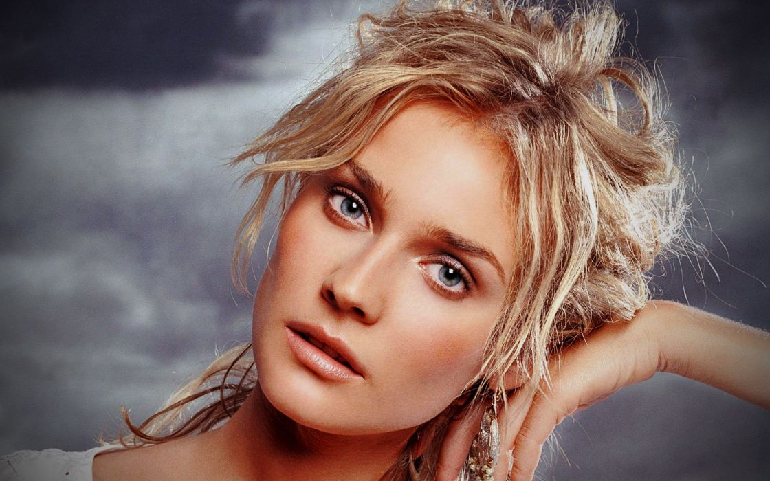 Blondes women actress diane kruger faces portraits wallpaper