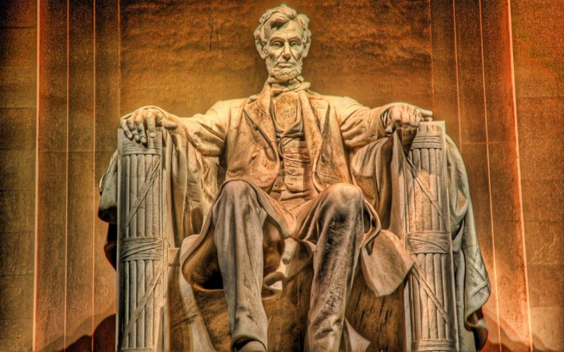 Abraham lincoln presidents statues hdr photography wallpaper