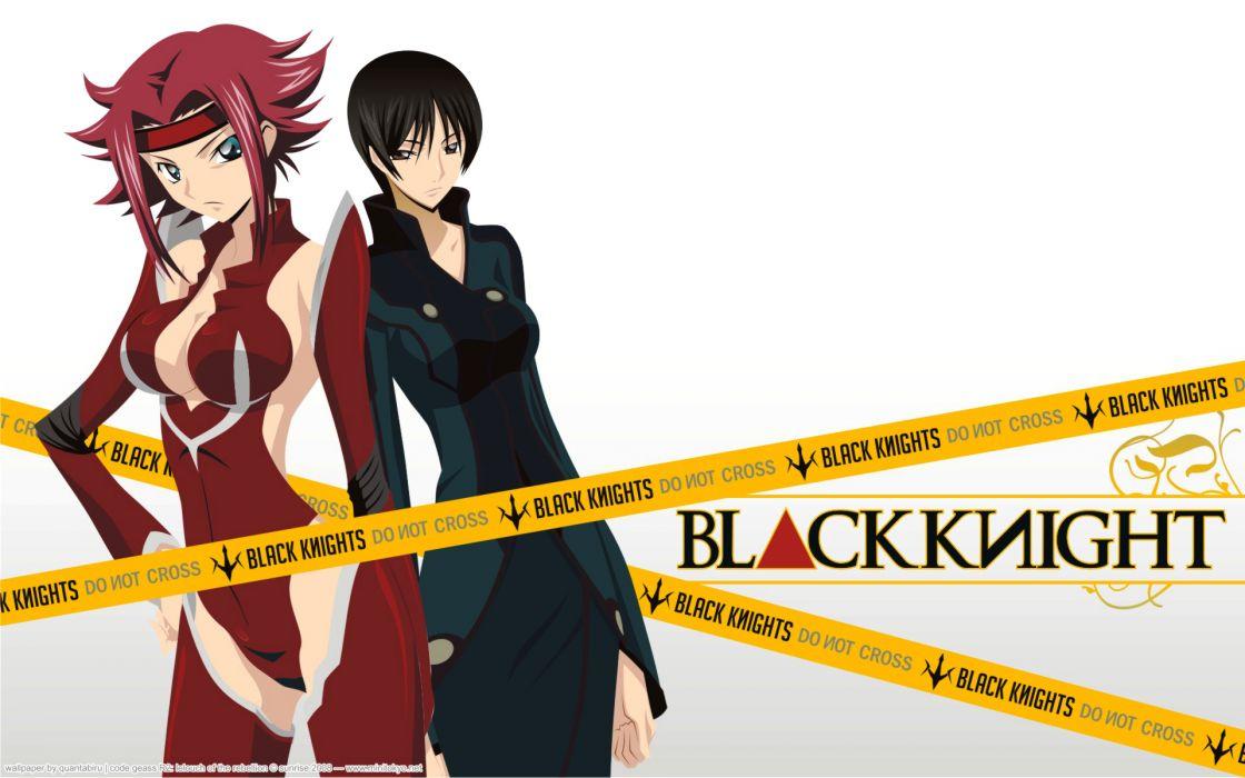 Code geass black knight stadtfeld kallen anime anime girls wallpaper