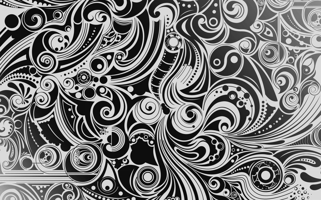 Abstract patterns monochrome wallpaper