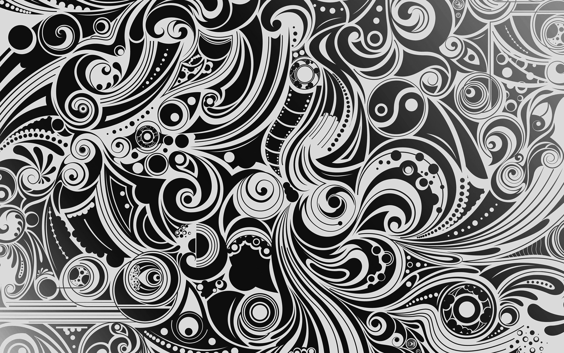 Abstract patterns monochrome wallpaper | 1920x1200 | 18452