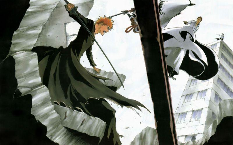 Bleach kurosaki ichigo ichimaru gin anime aizen sousuke tousen kaname wallpaper